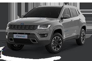 Jeep® Compass mittelgroßes SUV grau Sting Gray Vorderansicht