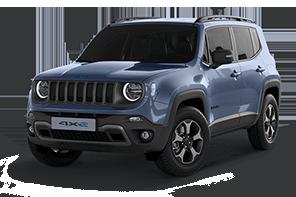 Jeep® Renegade 4xe Kompakt-SUV blau Blue Shade Vorderansicht