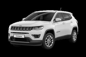 Jeep® Compass mittelgroßes SUV schwarz Vorderansicht