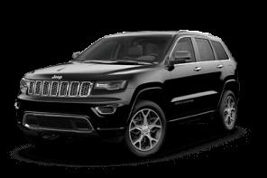 Jeep® Grand Cherokee Luxus-SUV schwarz Vorderansicht